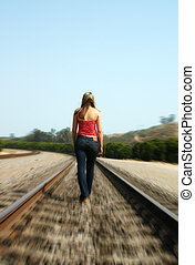 Woman Alone - Woman walking