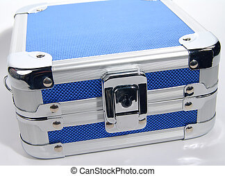 Blue Metal Case - Photo of Blue Metal Carrying Case