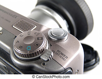 Digital Camera - Close Up Photo of Controls on Digital...