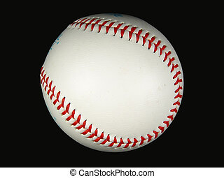 Baseball - Photo of Baseball on Black Background