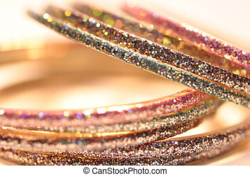 Bracelets from India - Sparkling bracelets from India, macro...