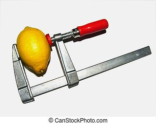 Squeezed out - Lemon squeezed with a srew clamp. Useful as...