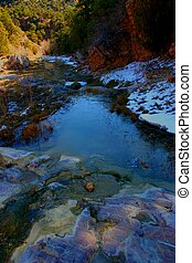 Grape Creek Ravine - Early morning in very early Spring in...