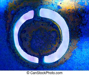 Blue Abstract 7 - The circle of light changes as you look...