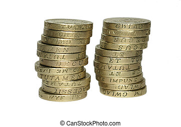 coin towers - twin pound coin towers