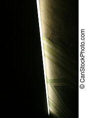 Abstract black and gree - A column edge