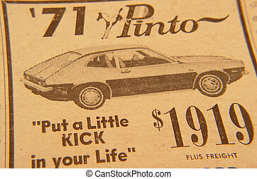 Retro Ad - Photo of 1970 Pinto Ad