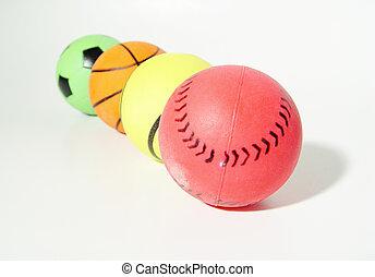 Balls - Assortment of Different Color Balls