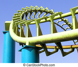Roller Coaster - Curving section of a roller coaster.