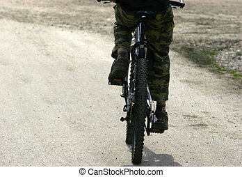 Pedal Power - Cyclist pedalling fast