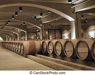 Barrels - barrels in a famous Californian wine cellar