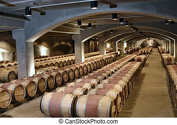 Barrels - barrels in a wine cellar