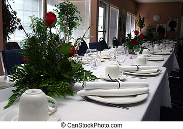 Formal Banquet II - A High-Res photo of a formal banquet.