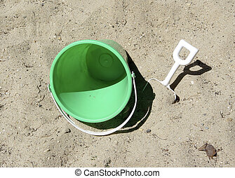 Bucket and Shovel - Photo of Bucket and Shovel in Sandbox