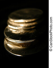 Coins - A stack of Kennedy Half dollar coins