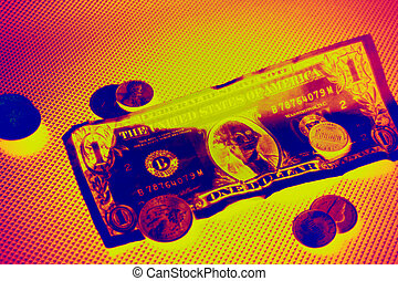 Commerce Infrared - A picture of a dollar bill and some...