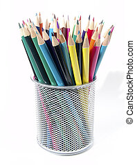 Colored Pencils 7 - Photo of COlored Pencils in Cup