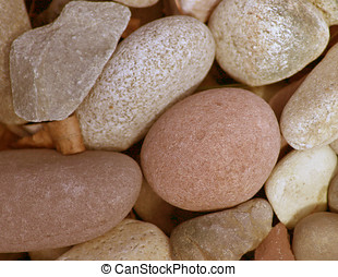 River Rock - A group of smooth river rocks. Shot was taken...