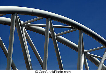 steelwork - Steel structure on a building against blue sky