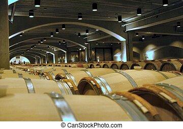 Barrels - barrels in a wine cellar