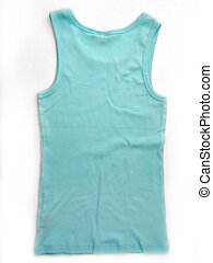 Blue/Aqua Tank Top - A blue/aqua tank top on a white...
