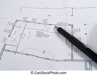 Drafting 1 - Photo of Plans and Pencil