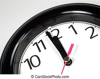 One Minute Til - One minute until midnight on a black and...