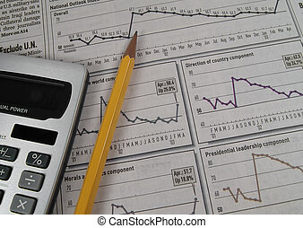 Stock Research 3 - Photo of Stock Charts and Caluclator