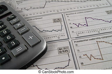 Stock Research 1 - Photo of Stock Charts and Calculator