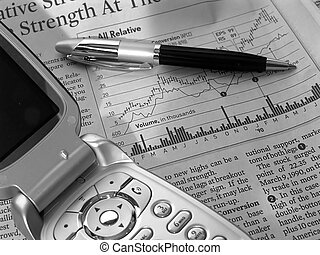 Stock Research 6 - Photo of Stock Chart, Pen and Calculator
