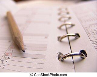 Agenda w pencil