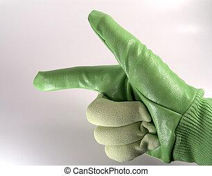 綠色, 手套, 2