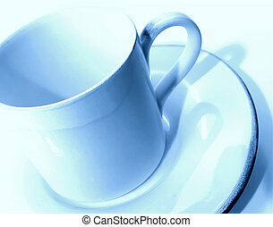 Tinted Cup - Photo of Blue Tone Coffee Cup