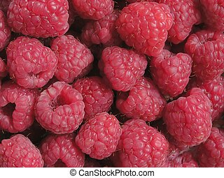 Raspberries background.