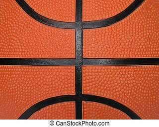 Basketball closeup.
