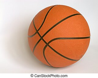 Basketball on a white background.