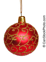 Christmas ball - Christmas tree decoration White background