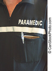 paramédico, uniforme