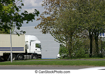 Lorry at Industrial - Lorry arriving at Industrial park