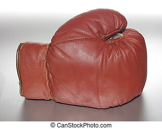 Boxing Glove II - Front of an used boxing glove.