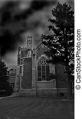 Abbey in Storm - Holy Cross Abbey in Canon City, Colorado...