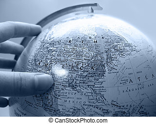 Earth Study - Handing about to turn the globe on its axis...
