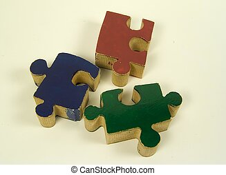 Puzzle Pieces - Photo of Puzzle Pieces