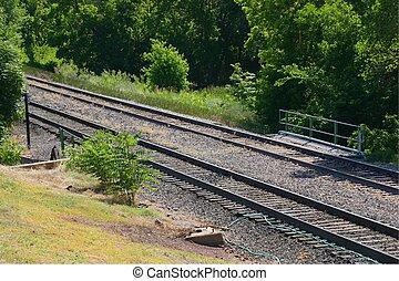 Railroad 7636 - Railroad tracks show that trains are alive...