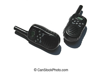 2 way radios - A photo of a pair of two way radios with...