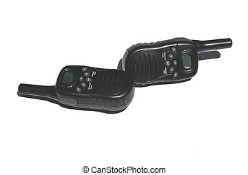 2 way radios 2 - A photo of a pair of black two way radios...