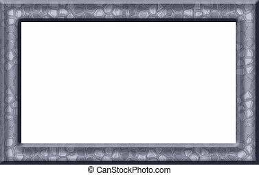 Blue Textured Frame - Blue frame with texture that resembles...