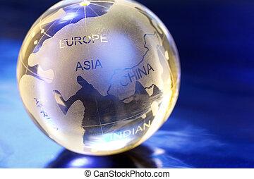 marble globe - Marbel globe close-up.