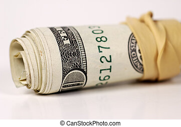 Money Roll - Photo of Rolled Up Money
