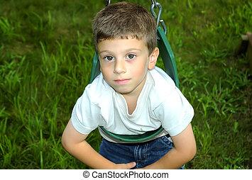 Child Swinging - Photo of Child on Swing